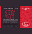 premium quality meat abstract beef vector image