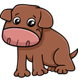 puppy dog cartoon vector image vector image