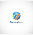 round business finance colored logo vector image