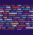 seamless pattern with words summer time fashion vector image vector image