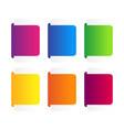set colorful ribbons banner vector image