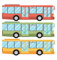 Set of bus vectors vector image
