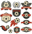 Set of the soccer club emblems design element vector image vector image