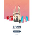 spain time to travel travel poster flat vector image vector image