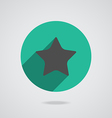 Star icon with long shadow flat design vector image vector image