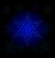 star light polygon line vector image vector image