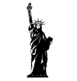 Statue Of Liberty Black And White New York vector image