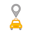 taxi service with pin location vector image