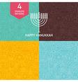 Thin Line Happy Hanukkah Holiday Patterns Set vector image