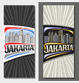 vertical layouts for jakarta vector image vector image