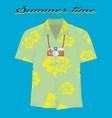 vintage summer vecetion time background vector image vector image