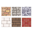 wall game textures seamless rock earth stones vector image