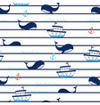 whale seamless pattern print design vector image