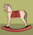 Wooden horse vector image vector image