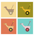 assembly flat icons kids toy duck vector image