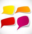 Set of color speech designs vector image