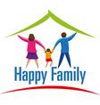 Happy Family icon or logo vector image