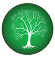 abstract tree with bare branches on a green vector image