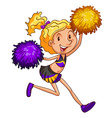 An energetic cheerleader vector image