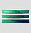 banners with abstract geometric background vector image