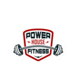 barbell gym fitness bodybuilding club icon vector image