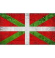 Basque flag vector image vector image