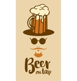 beer glass man vector image vector image