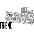 best friend birthday gift ideas text word cloud vector image vector image