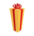 big gift box festive tall gift for new year and vector image
