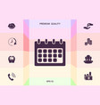 calendar symbol icon graphic elements for your vector image