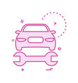 car wrench repairing icon design vector image vector image