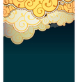 Cartoon style clouds background vector image vector image