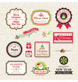 christmas collection labels and frames design e vector image vector image