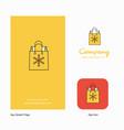 christmas shopping bag company logo app icon and vector image vector image