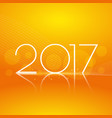 clean orange background with 2017 text for new vector image vector image