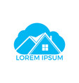 cloud house logo design vector image vector image