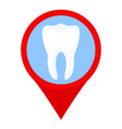 colorful cartoon dental clinic map sign vector image