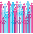 Colorful man and woman icon background vector image