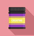 creatine sport nutrition icon flat style vector image vector image