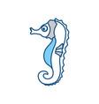 cute sea horse vector image vector image