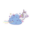 cute unicorn and clouds vector image vector image