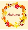 Decorative colorful autumn leaves frame vector image vector image