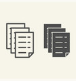 documents line and glyph icon files vector image