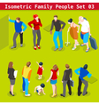 Family Set 03 People Isometric vector image vector image