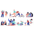 family spend time together parents walking vector image vector image