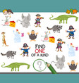 find one of a kind activity game vector image vector image