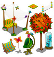 furniture and decorations for the backyard vector image vector image