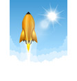 gold rocket launch vector image