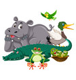 group wild animal vector image vector image
