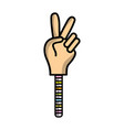 hand game with peace and love symbol vector image vector image